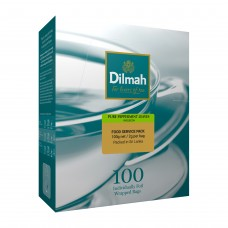 Dilmah帝瑪 天然薄荷葉茶-無咖啡因(100入/盒)-單包鋁箔袋裝
